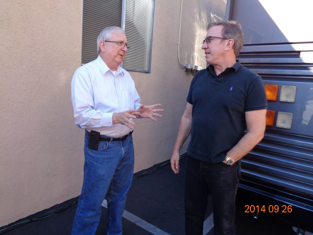 Tom with Tim Allen